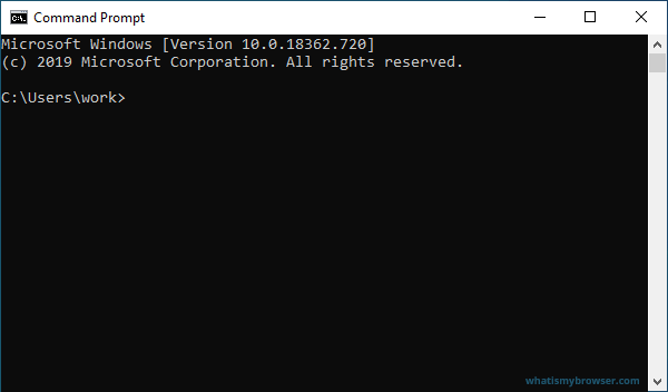 A blank Windows Command Prompt