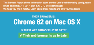 Example Browser Report - Chrome on OS X