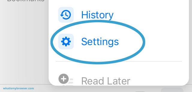 The Chrome menu, showing the Settings item