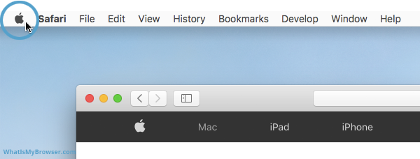 Screenshot of The Apple Menu icon in the top bar