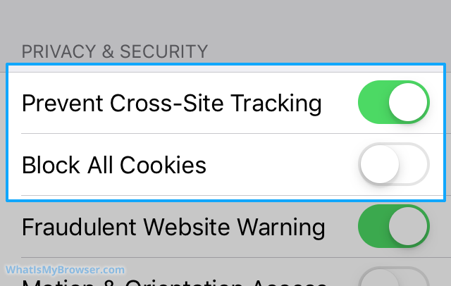 Enable Cookies in Safari on iPhone