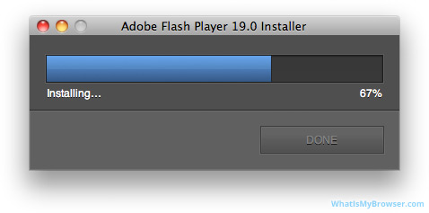 Flash Player is installing