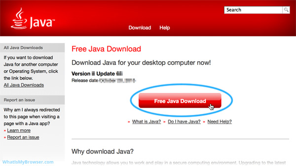 The Java download page