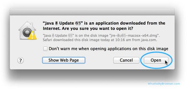 Mac OS X prompts if you really want to run this program