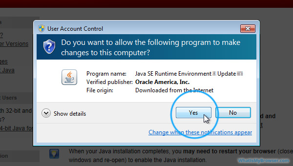 Install Java on Windows - WhatIsMyBrowser com