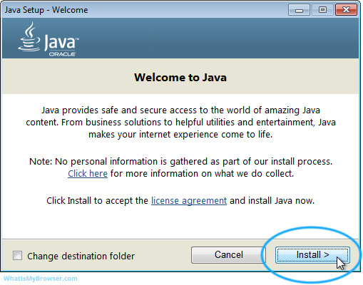 install java in windows