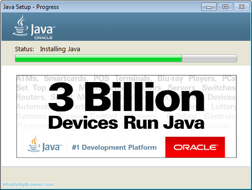 Java installing itself