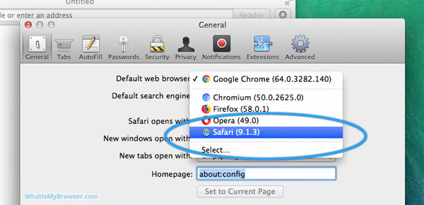 How to set Safari as your your default browser